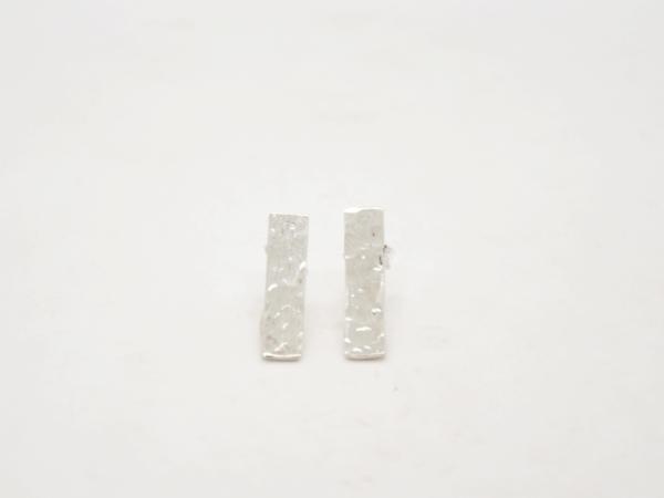 Minimal Σκουλαρίκια Ίσια Ασημένια