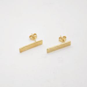 Minimal Σκουλαρίκια Σφυρήλατα Κοντά Χρυσά