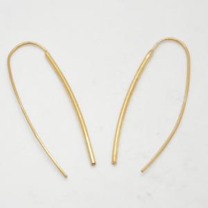 Minimal Σκουλαρίκια Ίσια Χρυσά