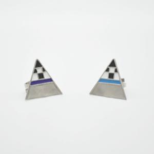 Magpie Δαχτυλίδι Τρίγωνο Ασημένιο