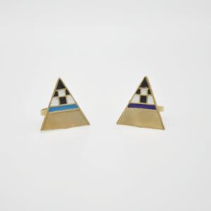 Magpie Δαχτυλίδι Τρίγωνο Χρυσό