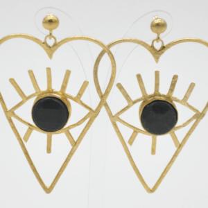 Barn Σκουλαρίκια Καρδιές Με Πέτρα Χρυσά