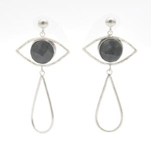 Barn Σκουλαρίκια Μάτια Με Πέτρα Ασημένια