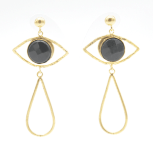 Barn Σκουλαρίκια Μάτια Με Πέτρα Χρυσά