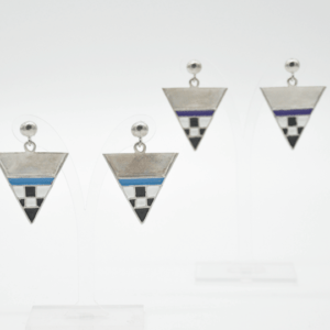 Magpie Σκουλαρίκια Τρίγωνα Κοντά Ασημένια