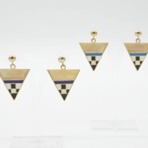 Magpie Σκουλαρίκια Τρίγωνα Κοντά Χρυσά