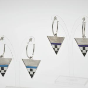 Magpie Σκουλαρίκια Τρίγωνα Με Κρίκο Ασημένια