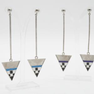 Magpie Σκουλαρίκια Τρίγωνα Με Βέργα Ασημένια