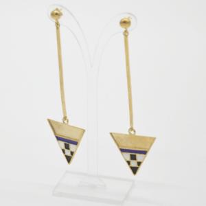Magpie Σκουλαρίκια Τρίγωνα Με Βέργα Χρυσά