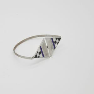 Magpie Βραχιόλι Με Τρίγωνα Ασημένιο