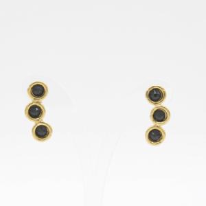 Σκουλαρίκια Με Swarovski Χρυσά