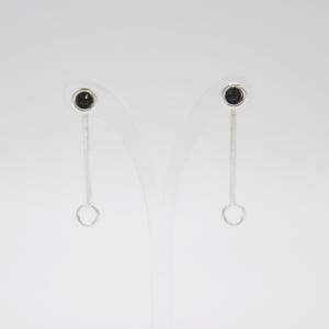 Minimal Σκουλαρίκια Με Swarovski Ασημένια