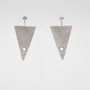 Σκουλαρίκια Τρίγωνα Ματ Ασημένια