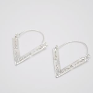 Σκουλαρίκια Με Τρίγωνο Ασημένιο