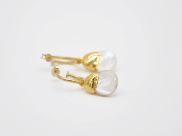 Σκουλαρίκια Μαργαριτάρια Με Κρικάκια Χρυσά